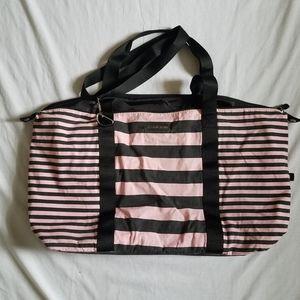 Victoria Secret Pink and Black Duffle Bag